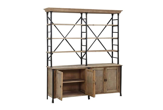 Natural Large Wall Unit W/4-Door - 360