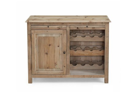 Natural 1-Door Wine Cabinet