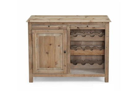 Natural 1-Door Wine Cabinet - Main