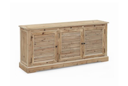 Natural 3-Drawer Shutter Cabinet