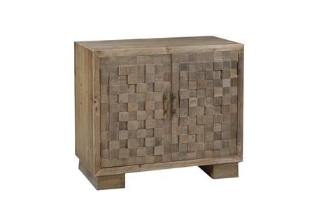 Natural 2-Door 32 Inch Cabinet