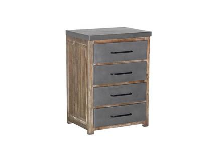 Natural 4-Metal Door Cabinet