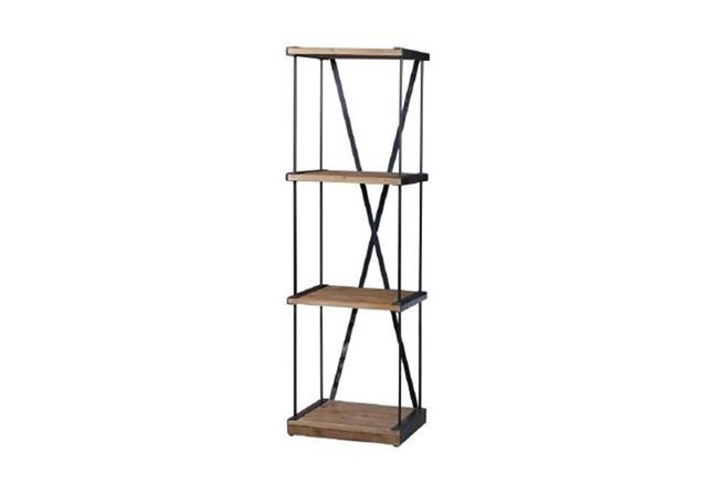 Natural Narrow Bookcase - 360