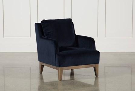 Poplar Wood Navy Club Chair