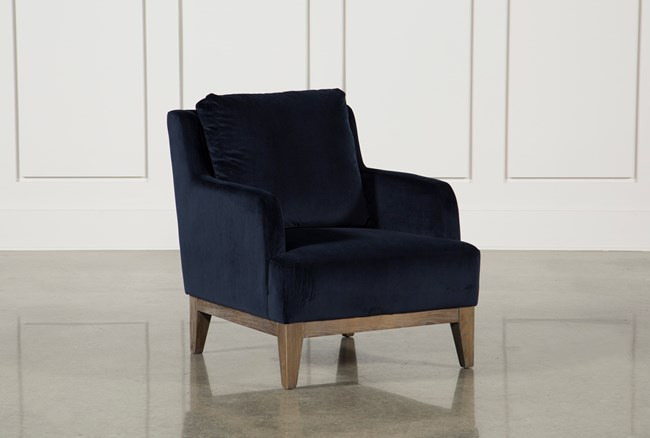 Poplar Wood Navy Club Chair - 360