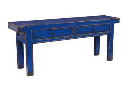 Reclaimed Blue Console Table