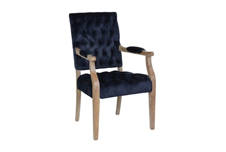 Poplar Wood Navy Arm Chair