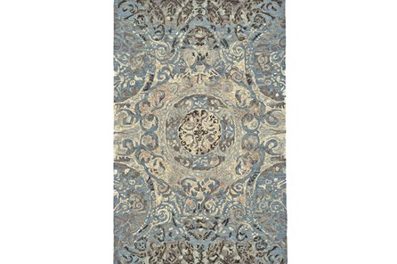93X117 Rug-Castilian Medallion Blue - Main
