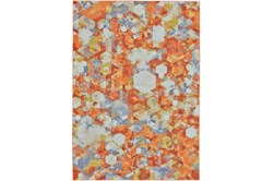 "2'2""x4' Rug-Pixel Orange/Multi"