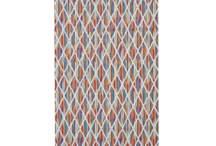 26X48 Rug-Diamond Pixel Shower Orange/Multi