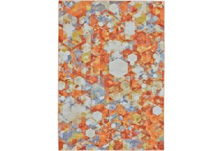60X96 Rug-Pixel Orange/Multi