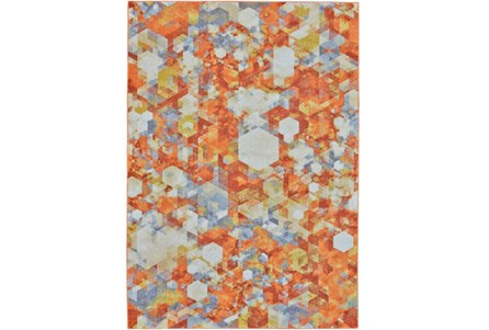 96X132 Rug-Pixel Orange/Multi