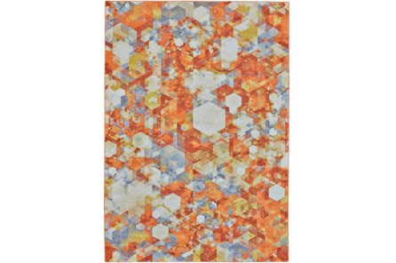 96X132 Rug-Pixel Orange/Multi - Main
