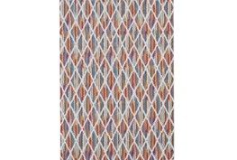 96X132 Rug-Diamond Pixel Shower Orange/Multi