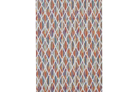 96X132 Rug-Diamond Pixel Shower Orange/Multi - Main