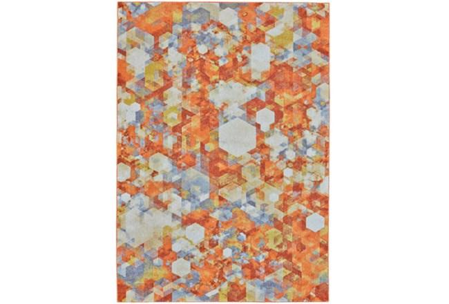 """10'x13'1"""" Rug-Pixel Orange/Multi - 360"""