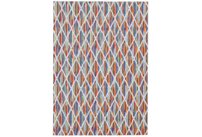 120X158 Rug-Diamond Pixel Shower Orange/Multi - 360