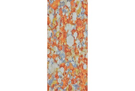 34X94 Rug-Pixel Orange/Multi