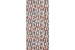 34X94 Rug-Diamond Pixel Shower Orange/Multi