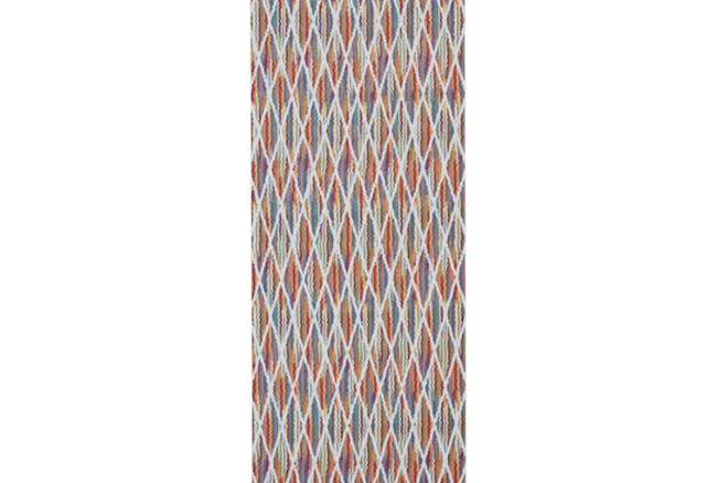 34X94 Rug-Diamond Pixel Shower Orange/Multi - 360