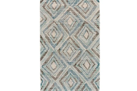 24X36 Rug-Talum Diamonds Blue - Main