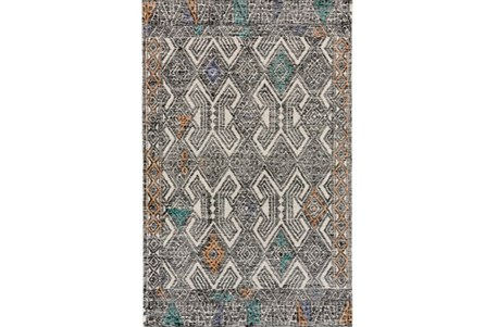 60X96 Rug-Native Orange/Teal