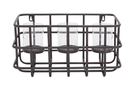 Metal Basket Candleholder