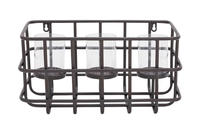 Metal Basket Candleholder - 360