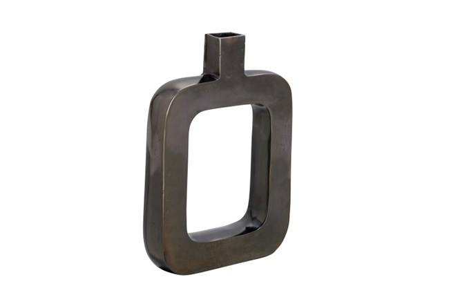 Aluminum Black Nickel Vase Short - 360