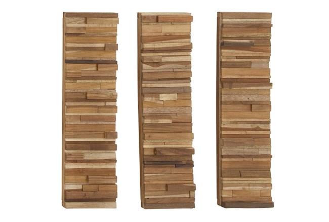3 Piece Set Wood Block Wall Panels - 360