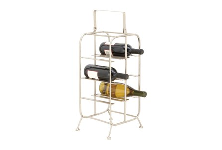 Silver Metal Wine Holder