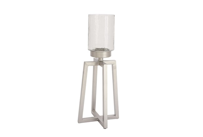 Tall Metal Glass Candleholder - 360