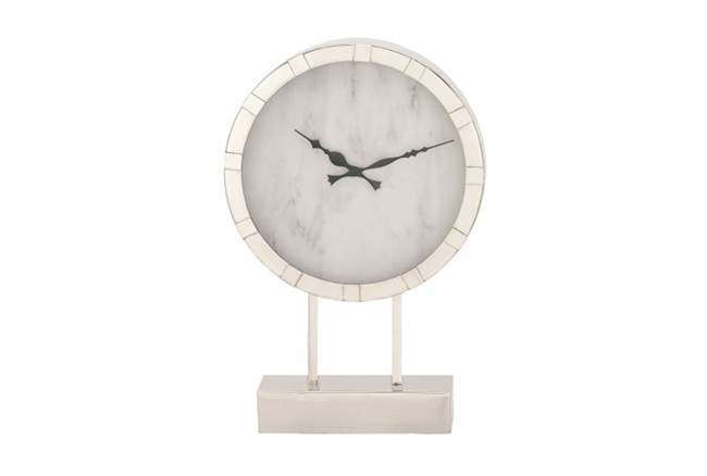 Steel Table Clock Tall - 360