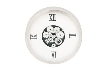 Steel White Gear Wall Clock