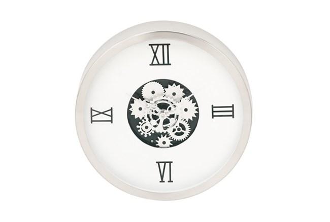 Steel White Gear Wall Clock - 360