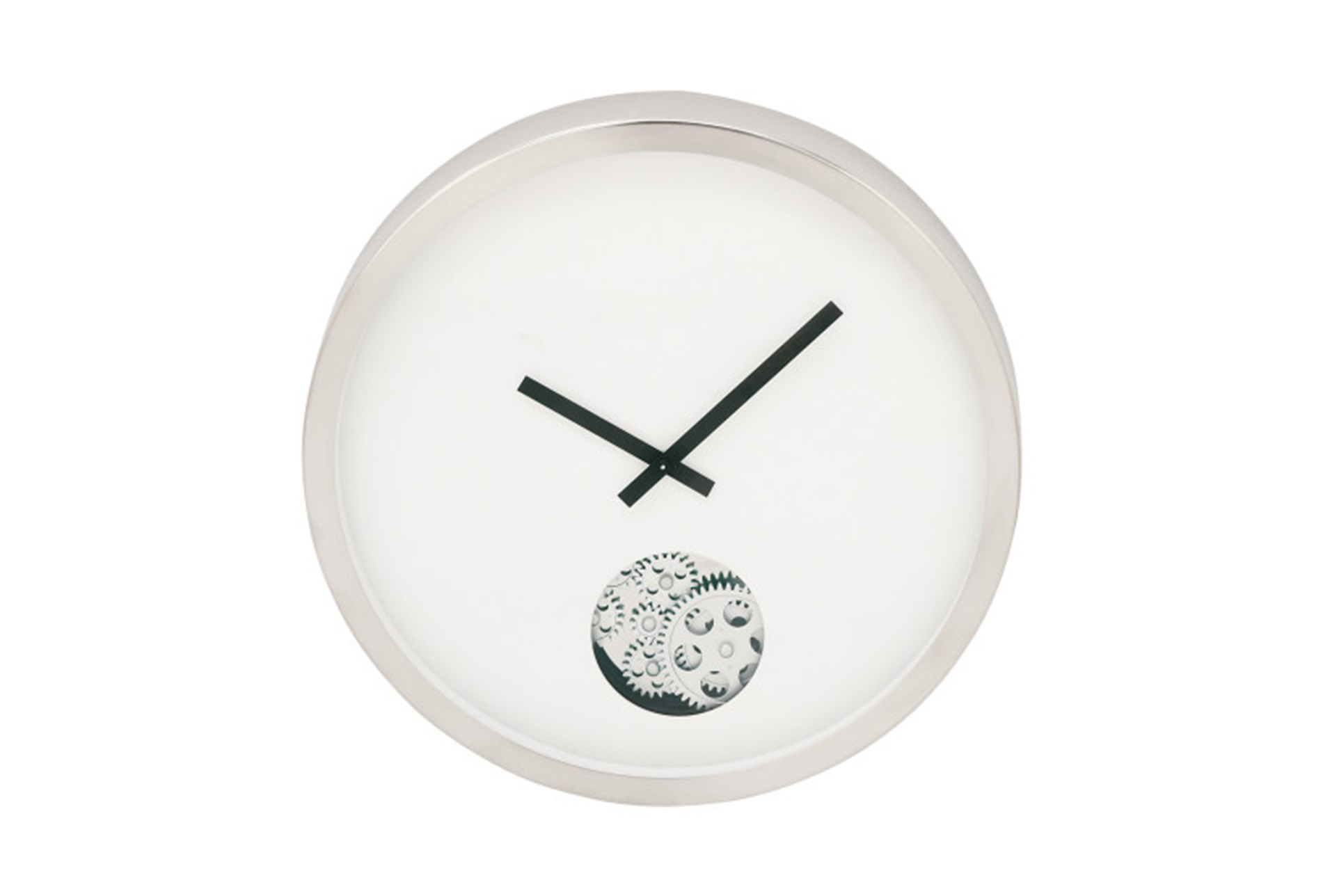 Steel Small Gear Wall Clock Living Spaces