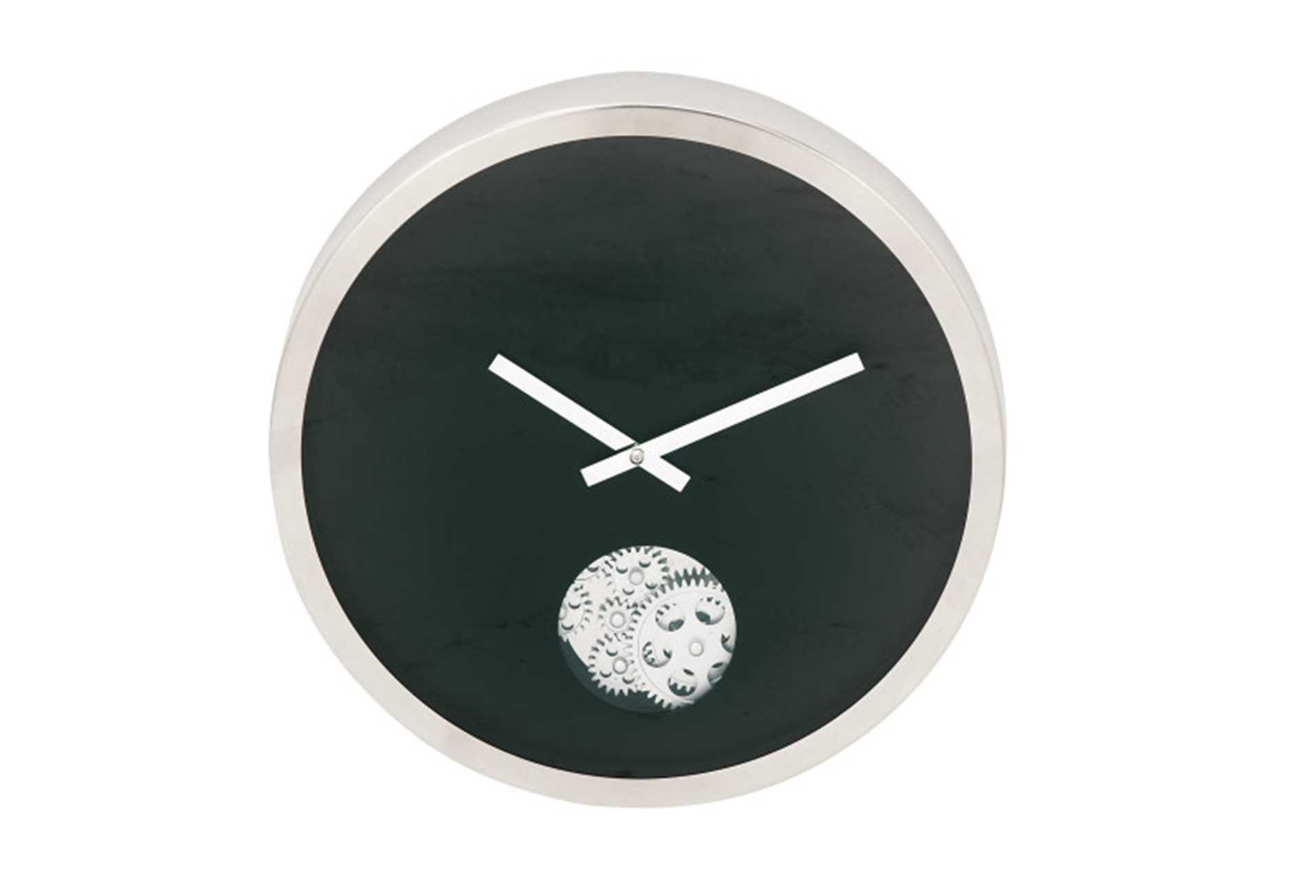 Steel Black Small Gear Wall Clock Living Spaces