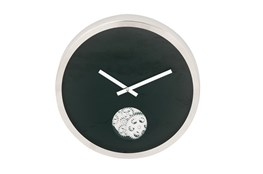 Steel Black Small Gear Wall Clock