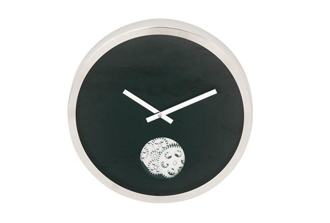 Steel Black Small Gear Wall Clock - 360