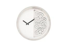 Steel Half Gear Wall Clock