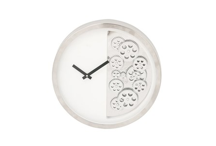 Steel Half Gear Wall Clock