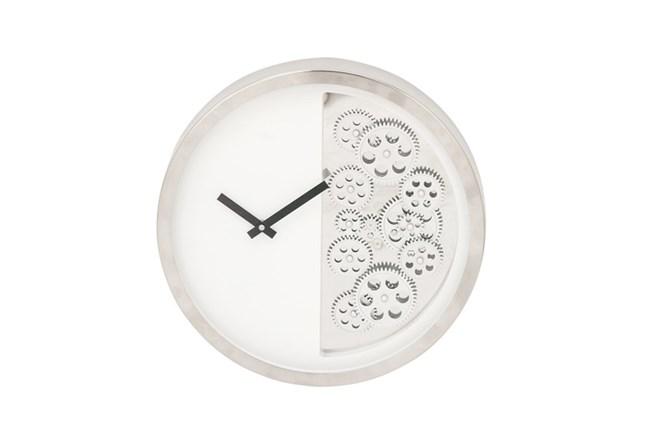 Steel Half Gear Wall Clock - 360