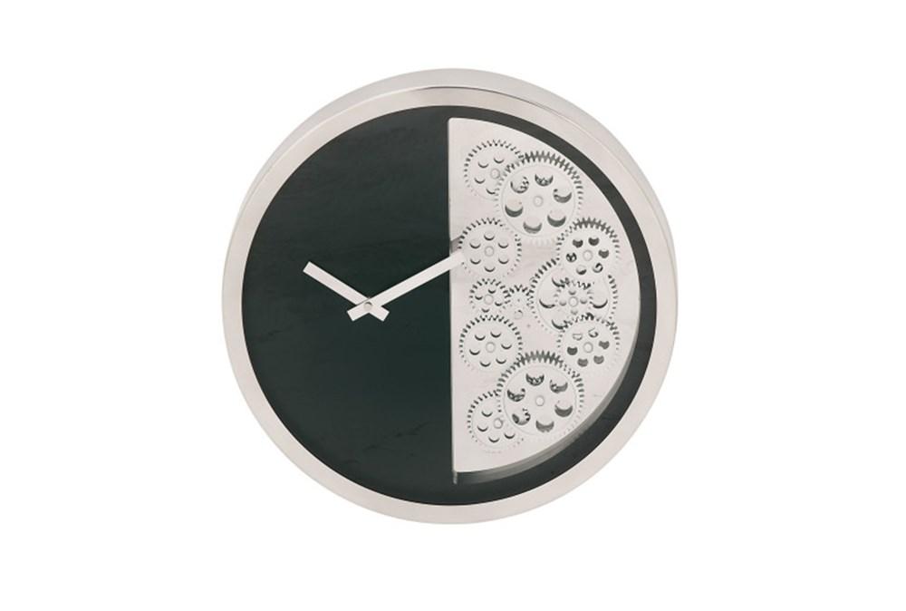 Steel Black Half Gear Wall Clock
