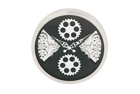 Steel Quad Gear Wall Clock