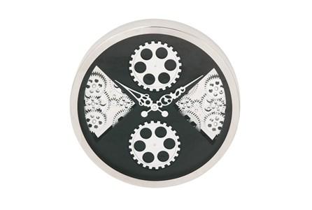 Steel Quad Gear Wall Clock