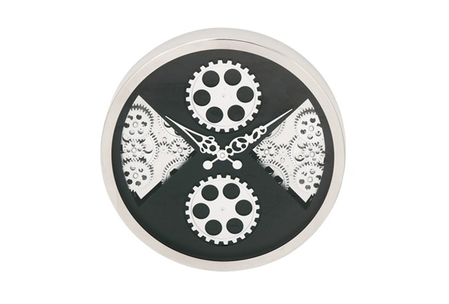 Steel Quad Gear Wall Clock - 360