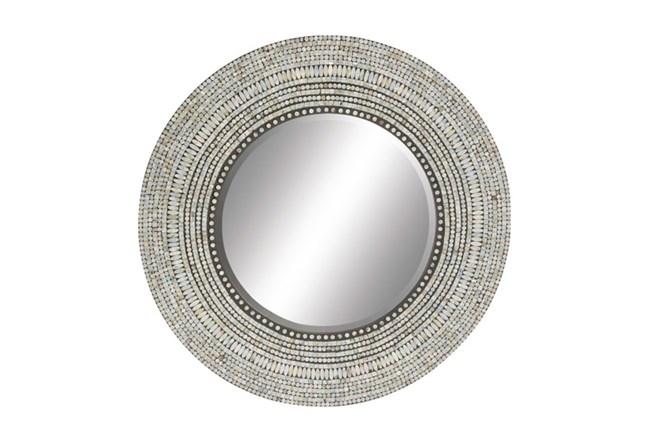 Wood Shell Inlay Mirror - 360