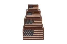 4 Piece Set Flag Trunks