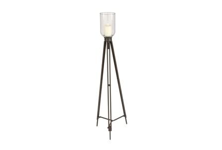 Metal Glass Candleholder Tall