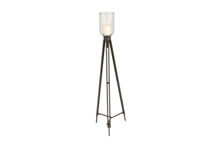 Metal Glass Candleholder Tall